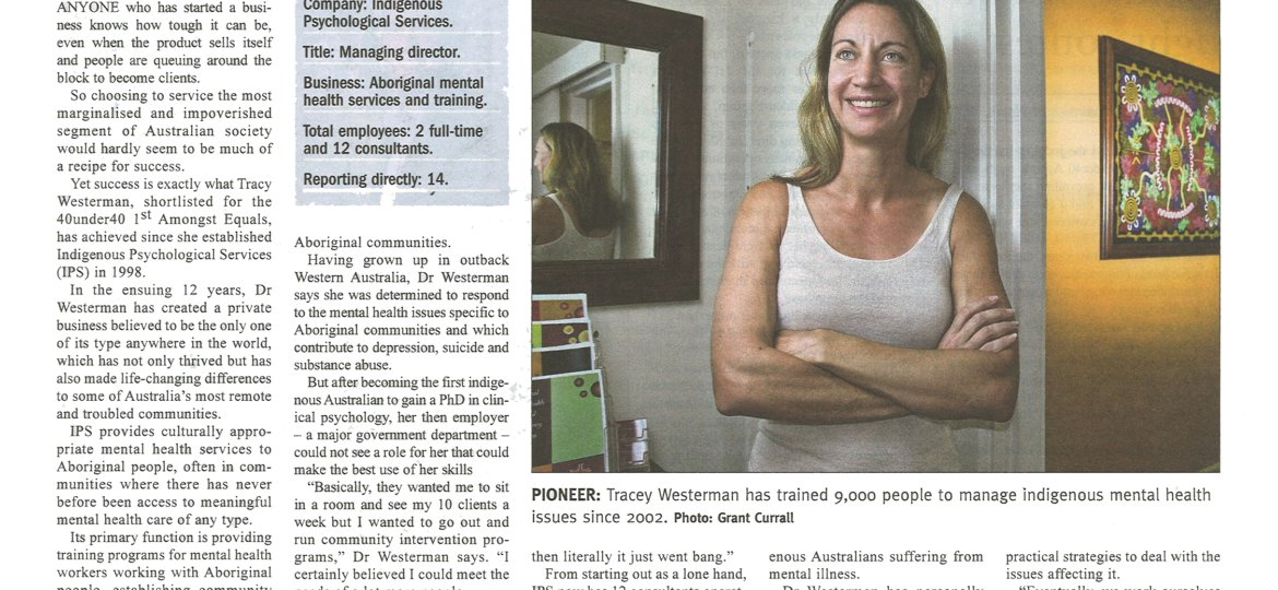 Dr Tracy Westerman 40 Under 40 WA Business News 18 February 2010