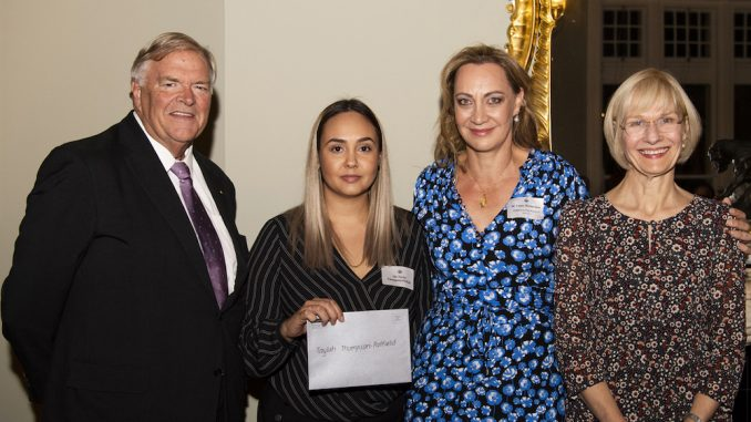 L-to-R-The-Hon.-Kim-Beazley-AC-scholarship-recipient-Taylah-Thompson-Patfield-Adjunct-Professor-Tracy-Westerman-and-Curtin-University-Vice
